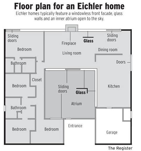 images  eichler floor plans  pinterest