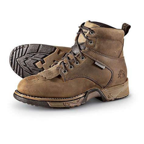 light waterproof boots s waterproof rocky 174 aztec work boots light brown