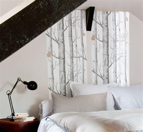 idee tete de lit en papier peint chambre parents en