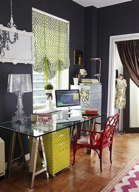 feminine glass desks  modern workspaces house