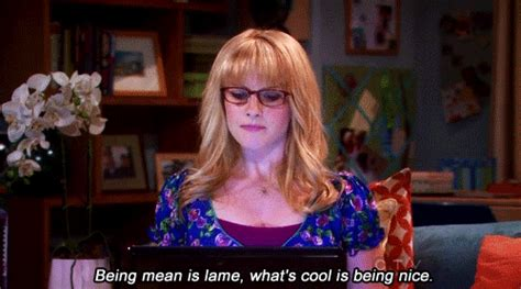melissa rauch kind being mean is lame whats cool is b gifs find share on