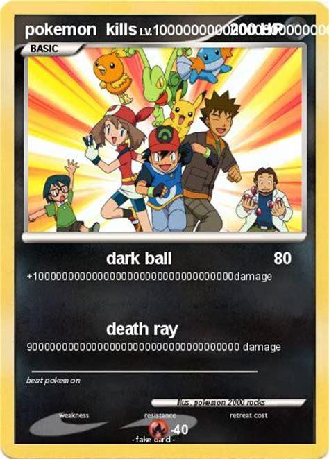 pokemon pokemon kills dark ball  pokemon card