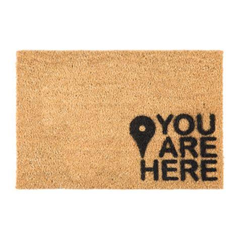 You Are Here Doormat by Door Mats Luxury Home Accessories Amara