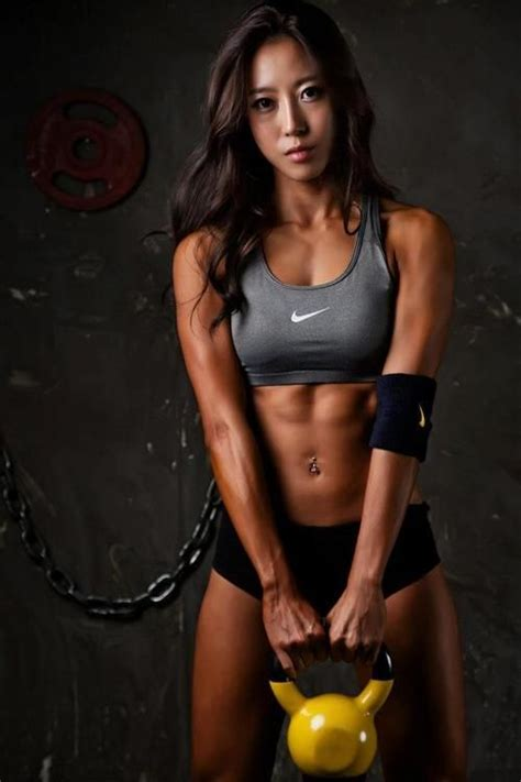 fitness female models asian workout korean athletic burn pump workouts mo gym yoga abs strong anthia warrior attractive sports inspiration