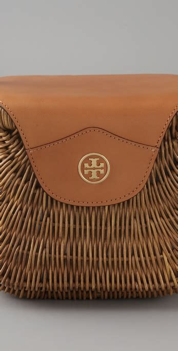 lyst tory burch small wicker basket bag  natural