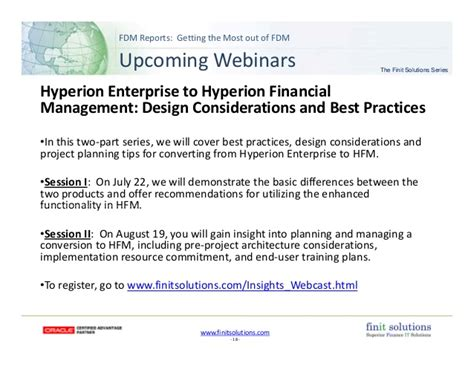 Finit Solutions Getting The Most Out Of Fdm  Fdm Reports Webinar