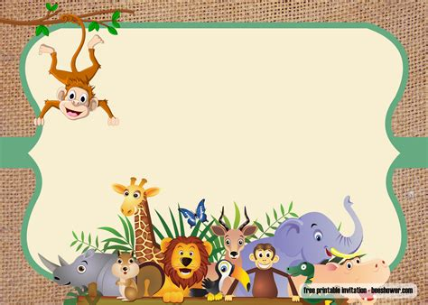 safari theme baby shower invitations templates