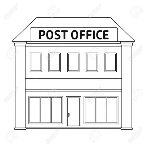 Post Office Clipart Post Office Clipart Black And White Design Templates