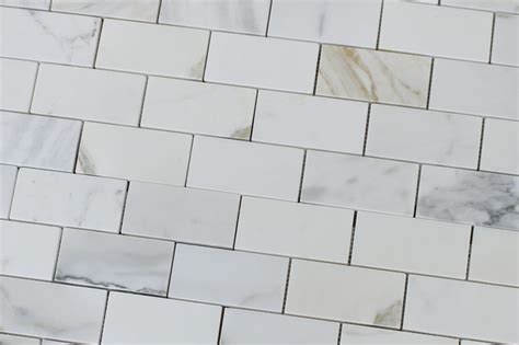 2 quot x 4 quot calacatta gold polished marble subway mosaic tiles