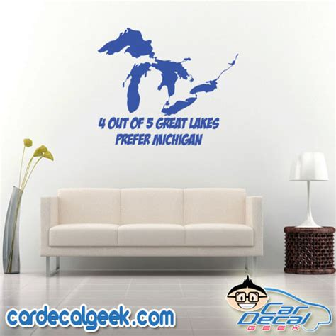great lakes prefer michigan vinyl decal sticker