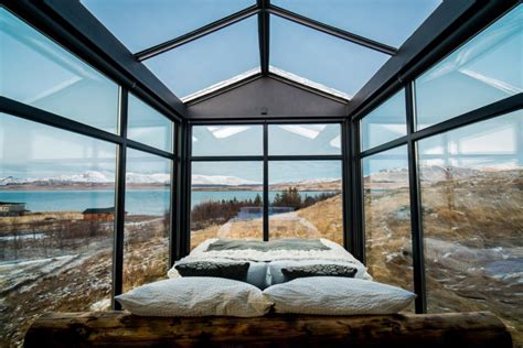 design for small bathroom this glass cabin in iceland lets you the northern