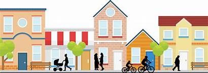 Neighborhood Clipart Houses Side Community South Tour