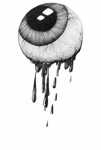 Creepy Eyeball Eye Drawing Eyes Transparent Gifs