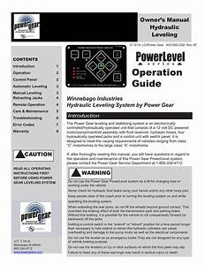 Winnebago Industries Hydraulic Leveling System By Power Gear