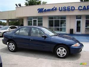 2001 Indigo Blue Metallic Chevrolet Cavalier LS Sedan ...