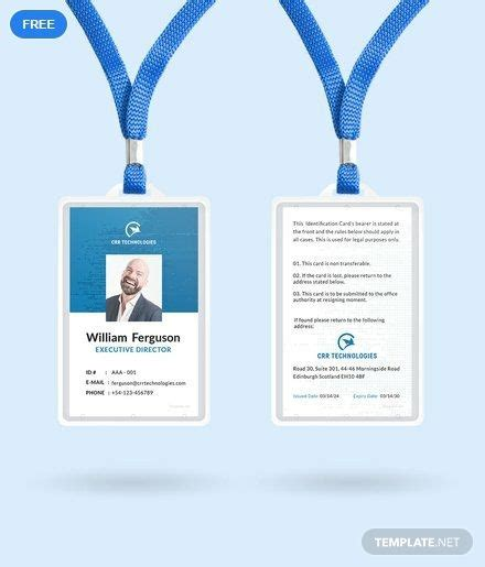 employee id card  images id card template