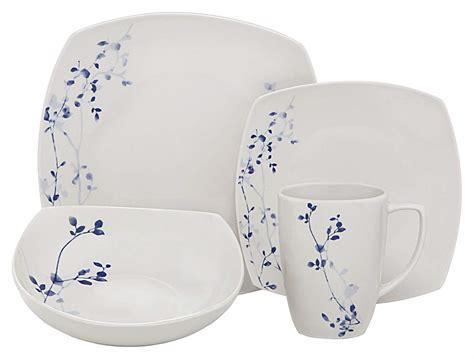 microwave dishwasher dinnerware safe oven square plate dinner salad porcelain bowl melange service soup each piece walmart