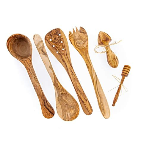 olive wood kitchen accessories olive wood kitchen utensils set of 6 handmade cooking or 3674