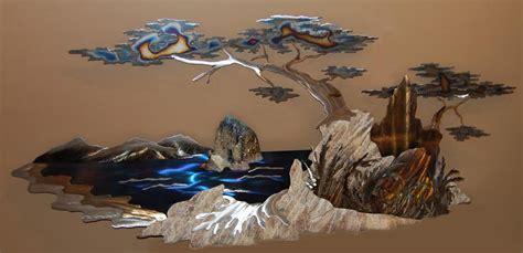 + Mountain Scene Metal Wall Art