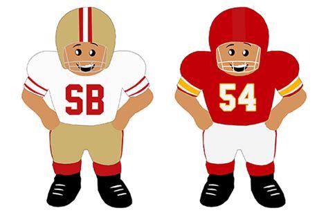 Super Bowl Uniform History Cartoon Edition Sportslogos