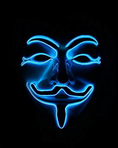 light up masks for raves emazing lights light up fawkes mask glowy