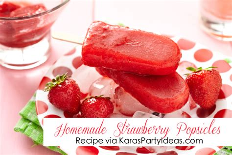 ideas for strawberries ice cream popsicles recipes