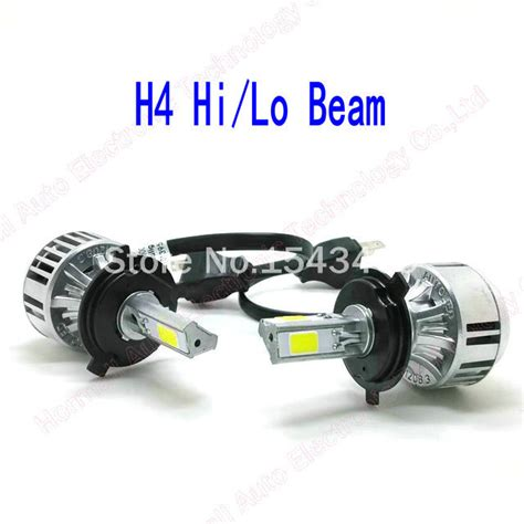 72w 6600lm car led headlights h4 3pcs cob chips h4 car