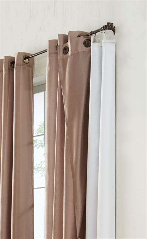 home decorators collection blackout curtain liner white