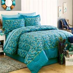 peacock feathers teal blue green exotic bird bedding 6 8p comforter set sheets ebay