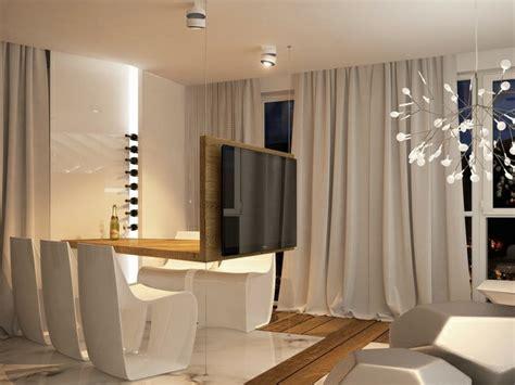 wohnzimmer gardinen modern ultramoderne einrichtung in einem apartment in barcelona