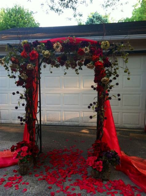 just finished my wedding arch for my fall outdoor ceremony