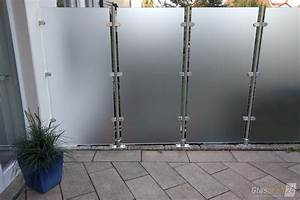 Windschutz Aus Glas : glaszaun transvent als sichtschutz im garten glasprofi24 ~ Watch28wear.com Haus und Dekorationen
