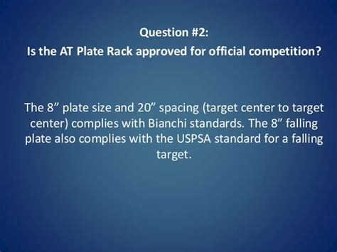 steel plate rack action target answers  questions