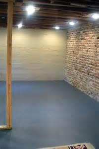 Painted Concrete Basement Floors