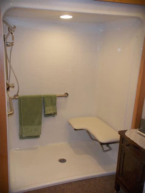 walk  shower  elderly handicap accessible shower