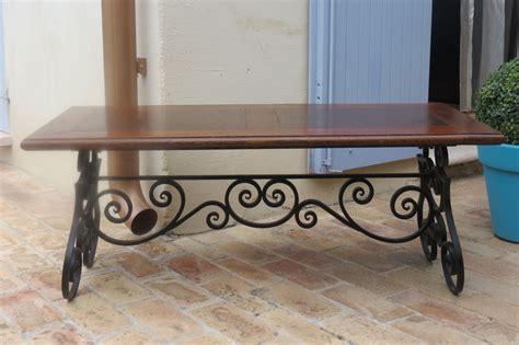 table bois et fer forge occasion achetez table basse fer occasion annonce vente 224 cagnes sur mer 06 wb156556216