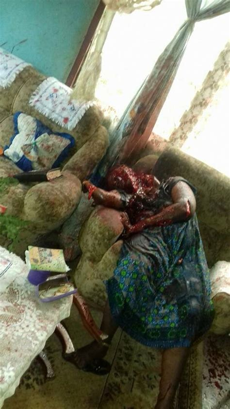 man murders  mother   house  cameroon graphic