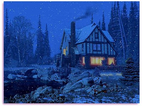 3d Snowy Cottage Animated Wallpaper - free animated screensavers for windows 8 3d snowy