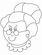 Grandma Coloring Pages Cartoon sketch template