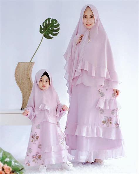 model gamis couple ibu  anak brokat kids fashion
