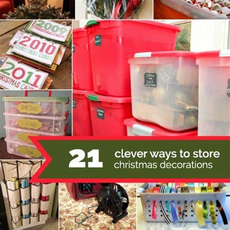 21 creative christmas decoration storage ideas