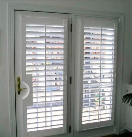 door with blinds inside blinds or curtains for doors