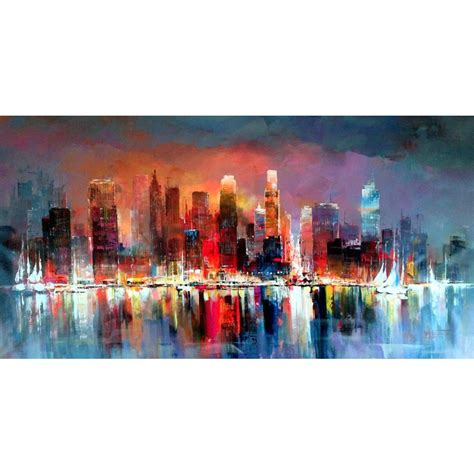 Contemporary Art Abstract Landscape Paintings City Scapes