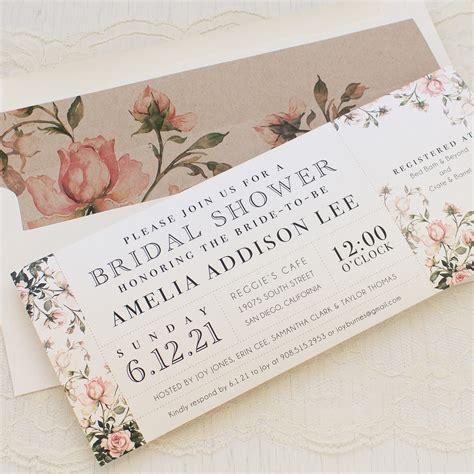 Wedding Shower Invite - garden roses customizable bridal shower invites beacon