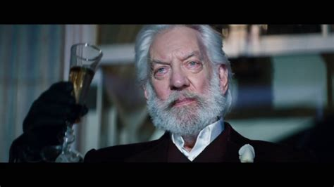 donald sutherland president snow happy birthday donald sutherland the hunger games news
