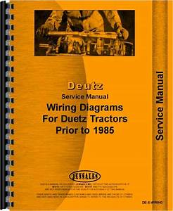 Deutz Dx90 Tractor Wiring Diagram Service Manual
