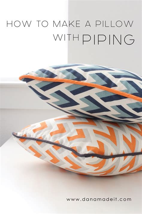 how to make a cushion pillows with piping made everyday