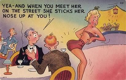 Humor Funny Advertising Comedy Poster Postcard Retro
