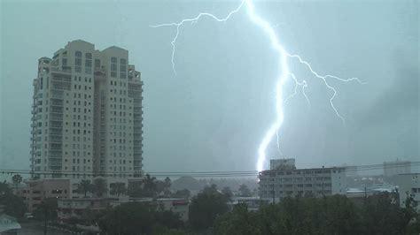 Severe Thunderstorms Intense Lightning- Ft. Lauderdale, Fl