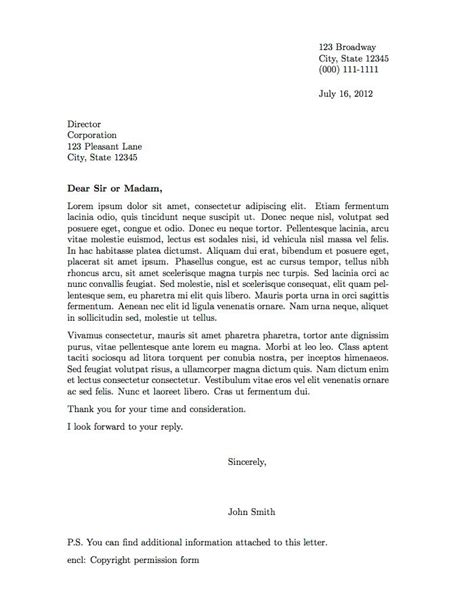 professional letter template professional letter template free business template